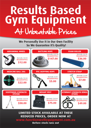 Gym equipment flyer_function well